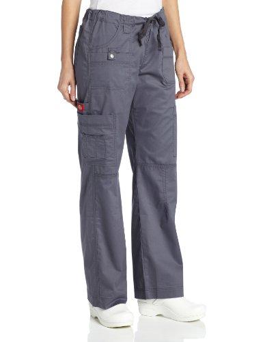 Dickies Scrubs Women's Gen Flex Junior-Fit Contrast Stitch Cargo Pant
