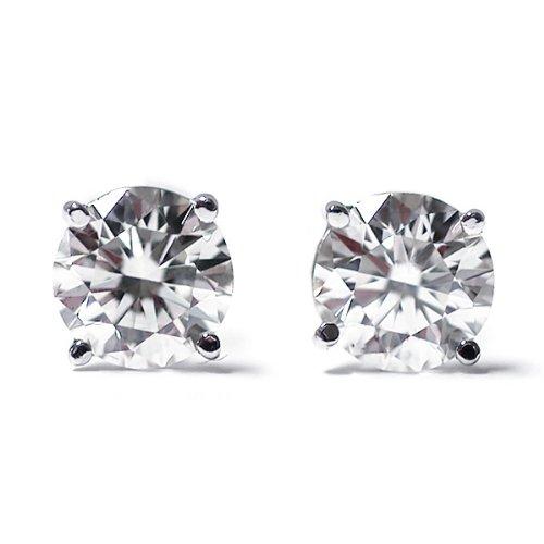 1/3 Ct Round Cut 14K White Gold Diamond Stud Earrings