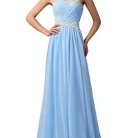GRACE KARIN® Strapless Long Evening Dresses with Appliques (Multi-Colored)