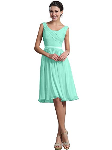 Remedios A-Line Chiffon Bridesmaid Dresses Short Party Gown for Prom Homcoming