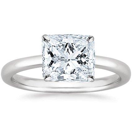 1.58 Carat Princess Cut Solitaire Diamond Engagement Ring (I-J Color VS2 Clarity)