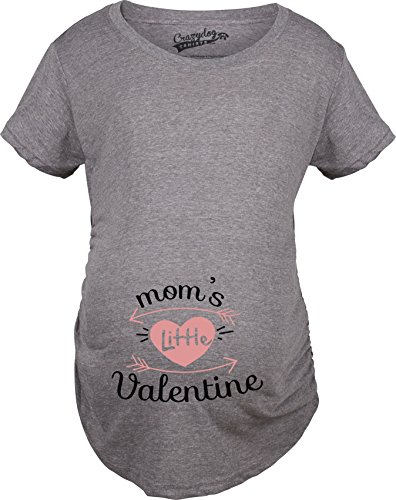 Maternity Moms Little Valentine Cute Funny Valentine's Day Pregnancy T Shirt