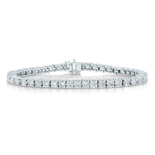 14K White Gold Diamond Bracelet (2 CT) Tennis