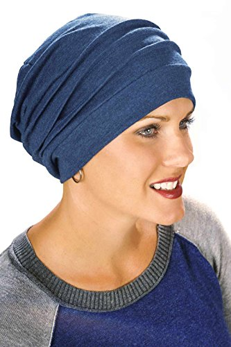 100% Cotton Slouchy Snood | Slouchy Beanie Hat | Cancer Hats for Chemo
