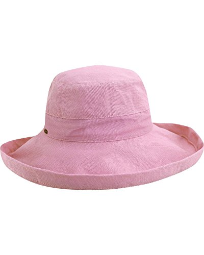 Scala Women's Cotton Big Brim Hat with Inner Drawstring and Upf 50+ Rating