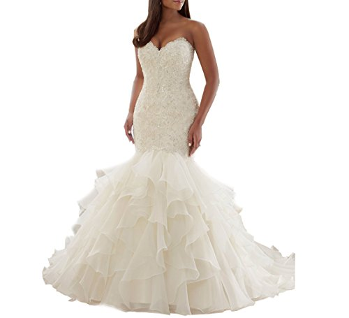 Beauty Bridal Sweetheart Mermaid Bridal Gown Plus Size Wedding ...