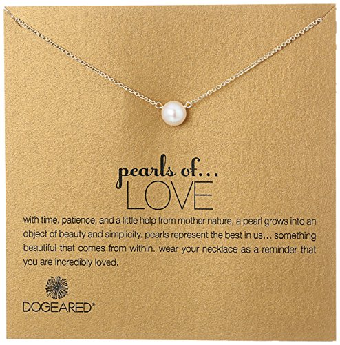 Dogeared Pearls of Love 8mm Freshwater Pearl Necklace, 18″