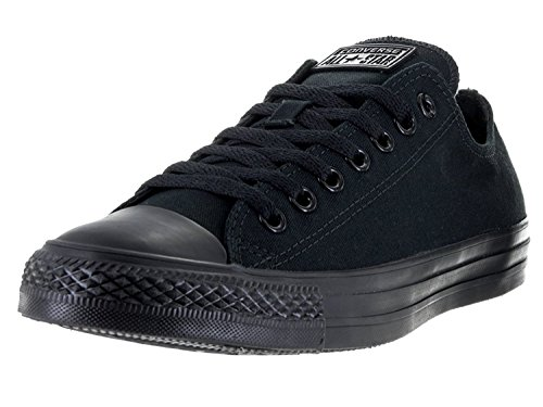 Converse Unisex Chuck Taylor All Star Low Top Black Monochrome Sneakers – 12 B(M) US