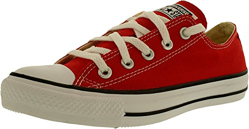 Converse Unisex Chuck Taylor All Star Low Top Red Sneakers – 10.5 B(M) US Women / 8.5 D(M) US Men