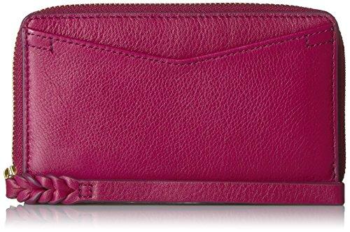Fossil Caroline Rfid Smartphone Zip Around Wallet Raspberry Wine Wallet