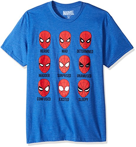 Marvel Men's Many Expressions of Spider-Man Homecoming T-Shirt