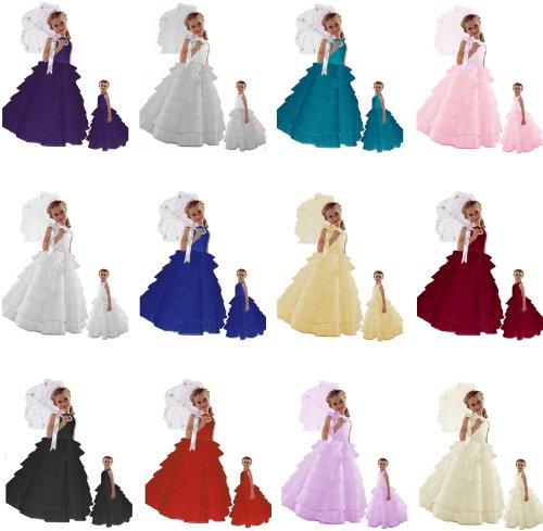 Sale!!! Sara Too Flower Girl Wedding Layers Sleeveless Dress Baby to Teen