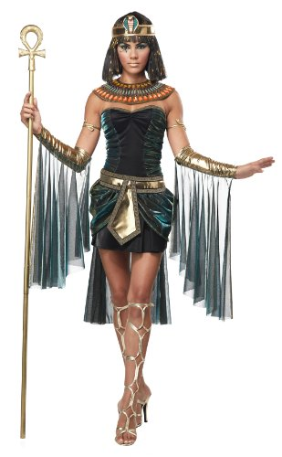 California Costumes Women's Eye Candy – Egyptian Goddess Adult, Black/Teal, Medium