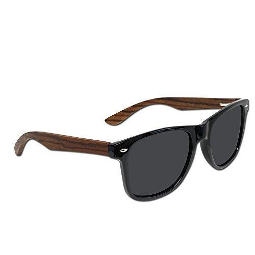 Polarized Wooden Sunglasses for Men & Women with 100% UV Blocking, HD Lenses