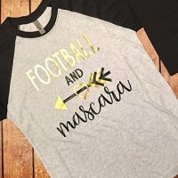 Football And Mascara Raglan Tee