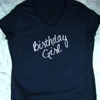 Birthday Girl Womens V neck tee shirt