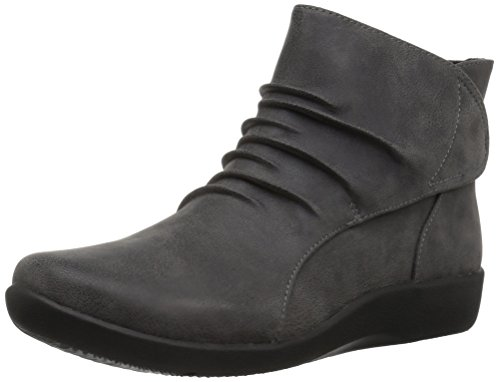 Clarks Women's Sillian Sway Ankle Bootie, Grey, 9.5 N US