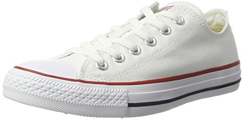 Converse Unisex Chuck Taylor All Star Low Top Optical White Sneakers – 6 D(M)