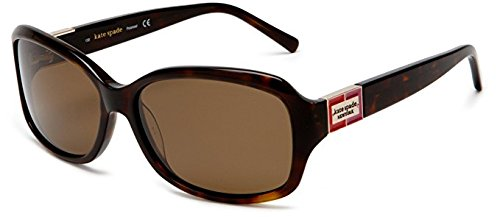 Kate Spade Women's Annika Sunglasses,Tortoise Frame/Brown Lens,one size