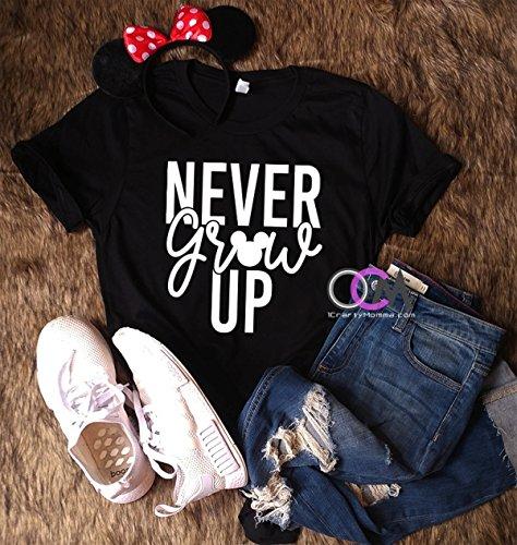 Never Grow Up, Disney Shirt, Disney Vacation Shirt, Family Disney Shirts- Tshirt