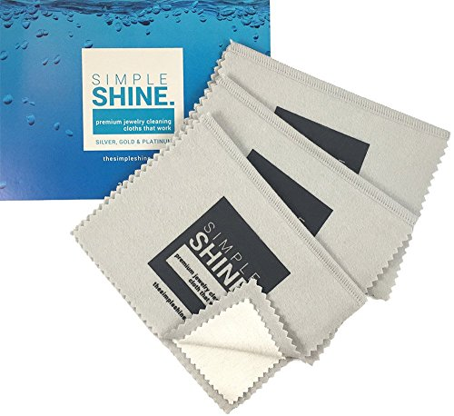 NEW Set of 3 Premium Jewelry Cleaning Cloths – Best Polishing Cloth Solution for Silver Gold & Platinum