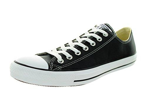 8592db5de793 Converse Unisex Chuck Taylor All Star Low Top Leather Black Sneaker ...
