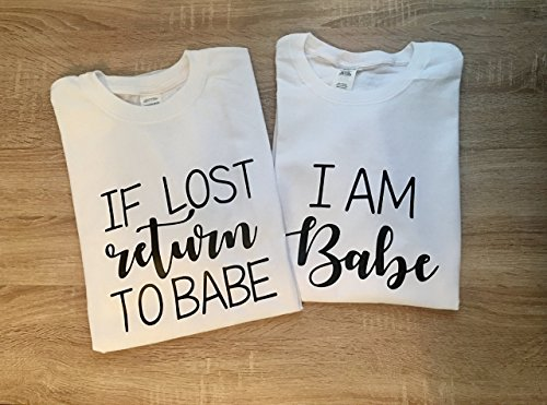 17b5ca672b5 If Lost Please Return To Babe Couple T Shirt – Funny Matching Couples T- Shirts – Graphic Tees TShirt Humor Shirt -HoneyMoon