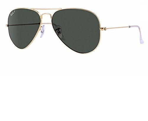 Ray Ban RB3025 001/58 55M Gold/ Polarized Green Aviator