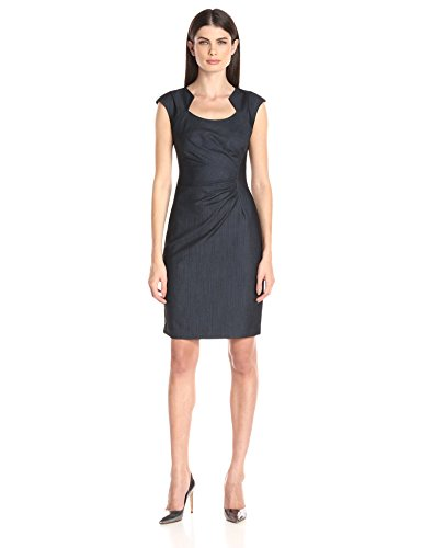 Calvin Klein Women's Ruched Denim Dress, Blue, 4