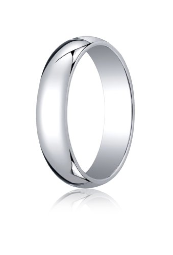 Mens Platinum, 5.0mm Traditional Dome Oval Ring