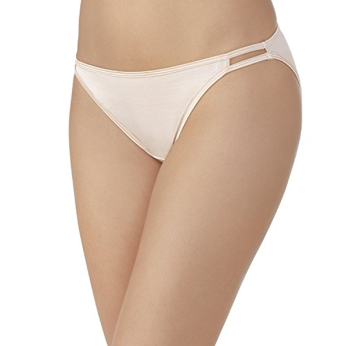 Vanity Fair Women's Illumination String Bikini Panty 18108, Rose Beige, Medium/6