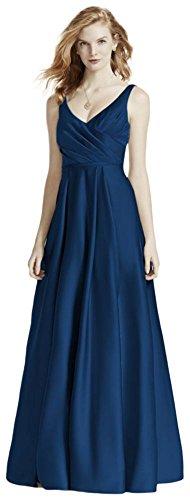 b4dd8e423a1b David's Bridal Satin Tank Long Ball Gown Bridesmaid Dress Style F15741,  Marine, 16. Byadmin on August 30, 2018. bridal