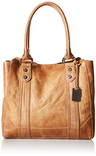 FRYE Melissa Tote Leather Handbag, Beige, One size