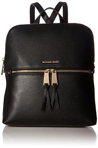 Michael Kors Rhea Medium Slim Leather Backpack BLACK