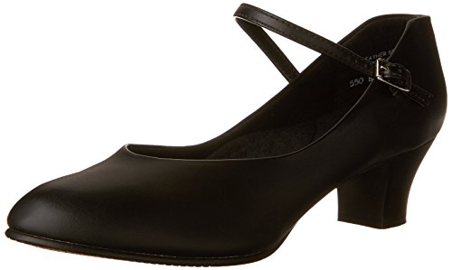 Capezio Women's Jr. Footlight Character Shoe,Black,7.5 M US