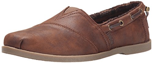 BOBS from Skechers Women's Chill Luxe Shoe, Brown, 7.5 M US