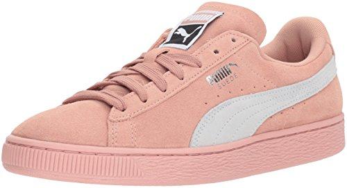 PUMA Women's Suede Classic Wn Sneaker, Peach Beige White, 8 M US