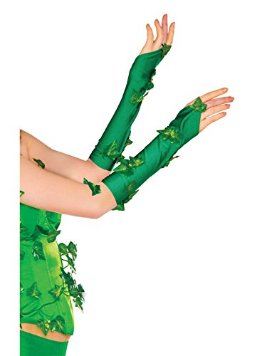 Rubie's Women's DC Comics Poison Ivy Glovelette, Green, One Size