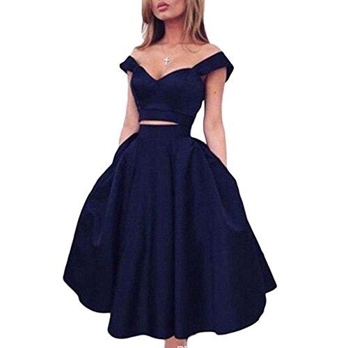 Navy Blue Short 2 Piece Homecoming Dresses 2018 Cocktail Dress 8th Grade  Prom Dresses Modern Simple Style Vestido De Festa Curto Navy-US6 574d2bfa296c