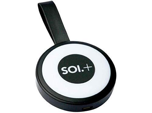 SOI+ Handbag Light. Rechargeable Handbag Accessory with USB Power Bank, 500mAh (Black)