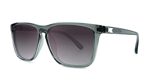 Knockaround Fast Lanes Polarized Sunglasses With Translucent Grey Frames/Black Lenses