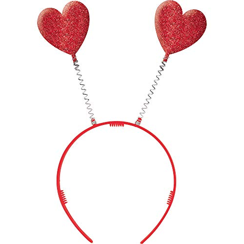 Amscan Valentine Red Plastic Heart Headbopper | Party Accessory