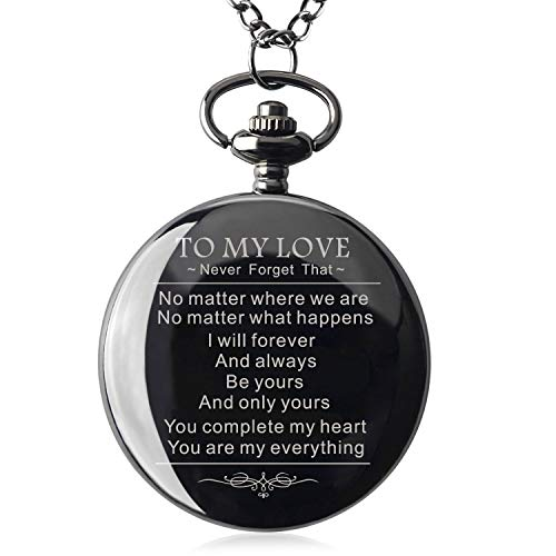 Samuel Personalized Gifts for Boyfriend Valentine's Day Gift for Boyfriend Men for Boyfriend Engraved Pocket Watch with Gift Box (to My Love)