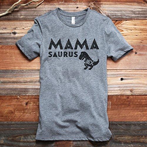 Thread Tank Mama Saurus Rex Women's Fashion Relaxed T-Shirt Tee Heather Grey