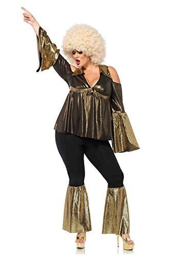 Leg Avenue Women's Costume, Black/Gold, 1X / 2X