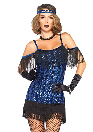 Leg Avenue Women's Gatsby Flapper, Blue/black, Small
