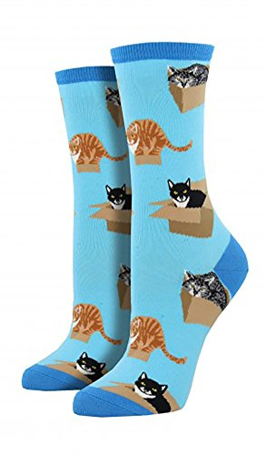 Socksmith Cat in A Box Azure One Size