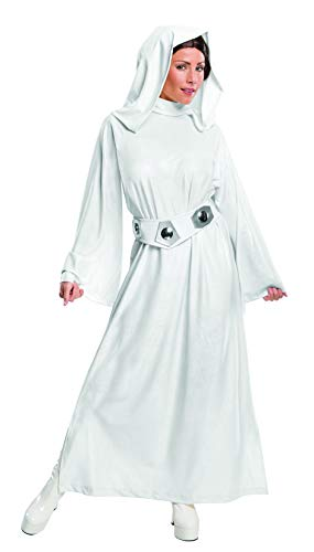 Rubie's Costume Women's Star Wars Classic Deluxe Princess Leia Costume,White,Medium