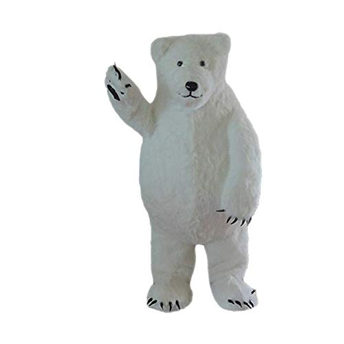 White Polar Bear Mascot Costume Adult Halloween Costume
