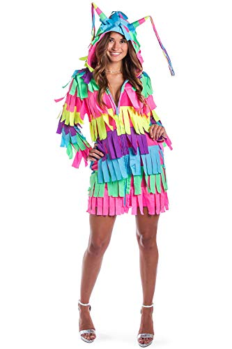 Tipsy Elves Funny Women's Adult Pinata Costume Dress – Pinata Halloween Costume Outfit: Medium